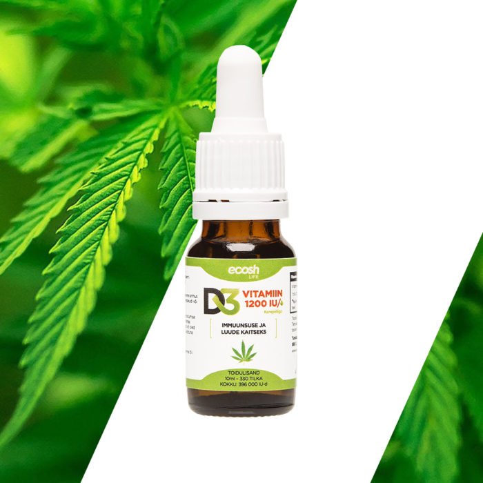 Vitamiin D3, 1200-IU tilk, kanepiõliga,10ml
