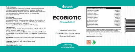 Ecobiotic kirjeldus