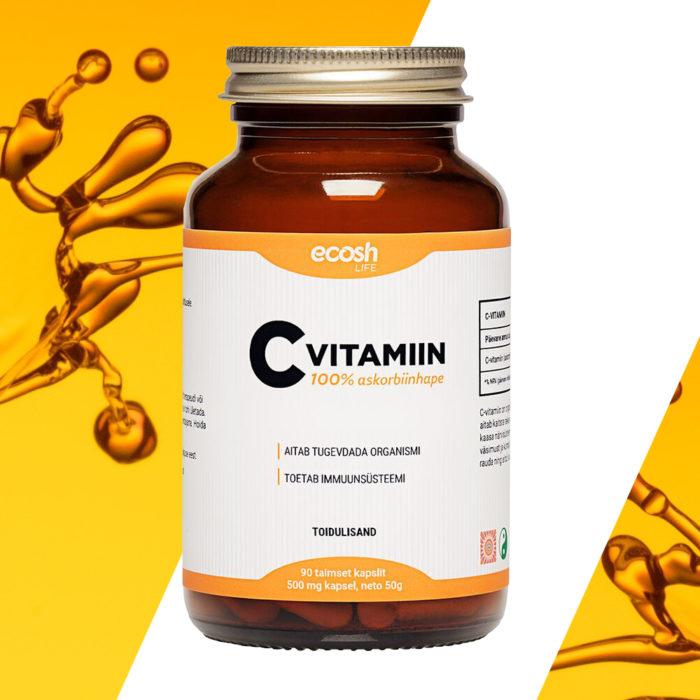 Vitamiin C, 100% L- askorbiinhape