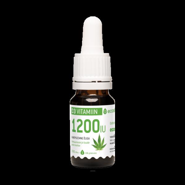 D3-Vitamiin 1200IU Kanepi 10ml