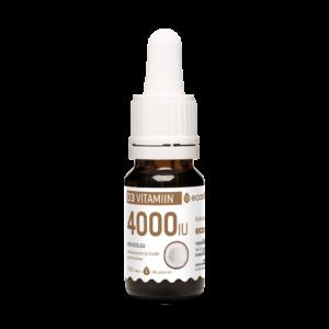 Vitamiin D3, 4000-IU tilk, kookosõliga 10ml
