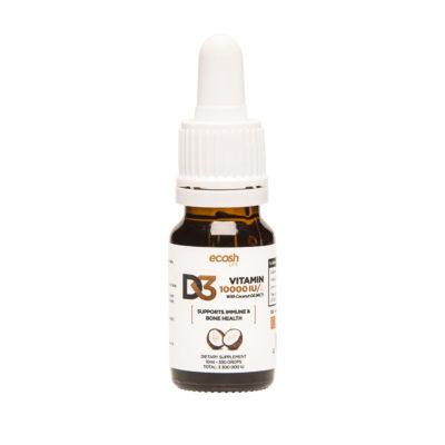 Kaitstud: Vitamin D3 10 000 IU tilk, MCT kookosõli, 10 ml