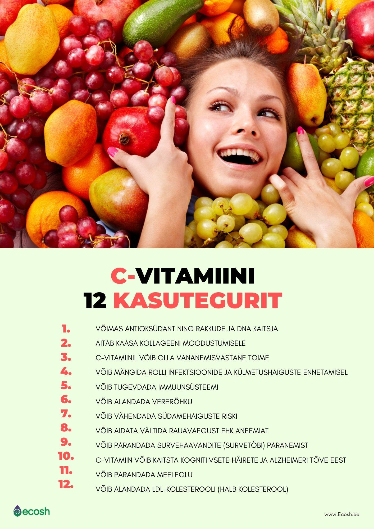 C-vitamiini kasutegurid_C-vitamiini kasulikkus