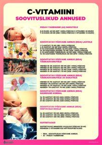 C-vitamiini soovituslikud annused_C-vitamiini doosid lastele